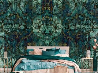 La Aurelia Paredes y pisosPapel tapiz Verde