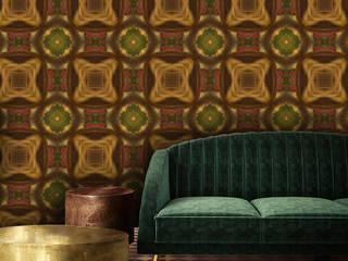 La Aurelia Paredes y pisosPapel tapiz Naranja