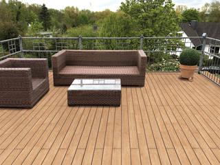 Eden B.V. Balcones y terrazas clásicos Madera Acabado en madera