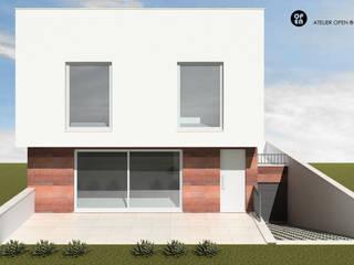 ATELIER OPEN ® - Arquitetura e Engenharia Einfamilienhaus Eisen/Stahl Holznachbildung