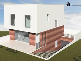 ATELIER OPEN ® - Arquitetura e Engenharia Villa Sperrholz Braun