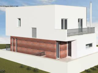 ATELIER OPEN ® - Arquitetura e Engenharia Kleines Haus Beton Rot