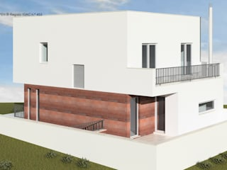 ATELIER OPEN ® - Arquitetura e Engenharia Rumah kecil Beton Red