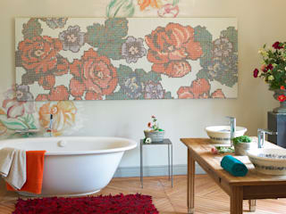 Aquacolors / Moretti A&D BathroomDecoration Kaca