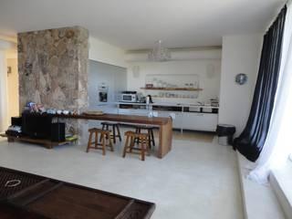 Villa con vista Eikon Cucina attrezzata Cemento Bianco