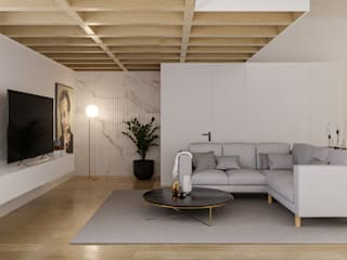 Moradia Oeiras Salas de estar modernas por Maqet Moderno