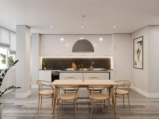 Apartamento Setúbal Cozinhas escandinavas por Maqet Escandinavo