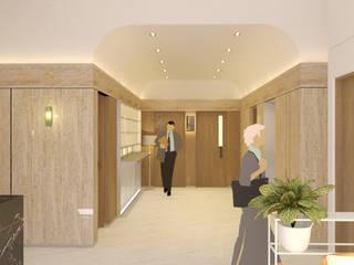 BPOM Office Renovation urr.studio Bangunan Kantor Modern Granit Wood effect