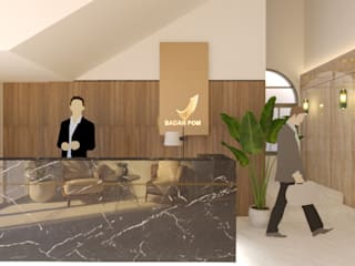 BPOM Office Renovation urr.studio Kantor & Toko Modern Granit Brown
