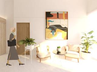 BPOM Office Renovation urr.studio Bangunan Kantor Modern Kayu White