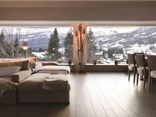 Montagna incantata Eikon Soggiorno in stile rustico Legno Bianco