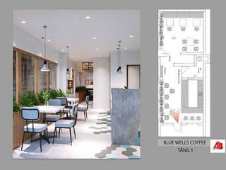 Thiết kế nội thất quán cafe Blue Wells Coffee Thiết Kế Nội Thất - ARTBOX