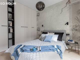 Pracownia Architektury Wnętrz Decoroom Small bedroom Grey