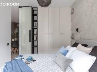 Pracownia Architektury Wnętrz Decoroom Modern style bedroom Blue