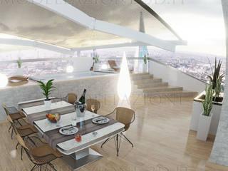 Alessandro Chessa Modern balcony, veranda & terrace