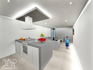 Dehonor Arquitectos Modern kitchen