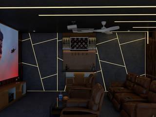 My Home Bhooja 3F Architects Modern media room