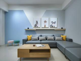 虎尾-禾楓君悅A8 大漢創研室內裝修設計有限公司 客廳 Blue