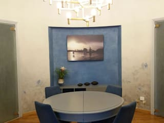 Silvia Camporeale Interior Designer Classic style dining room Wood Blue