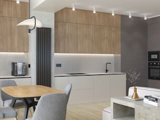 4-х комнатная квартира в современном стиле Кухня в стиле модерн от ARTWAY центр профессиональных дизайнеров и строителей Модерн