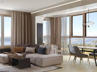 4-х комнатная квартира в современном стиле Гостиная в стиле модерн от ARTWAY центр профессиональных дизайнеров и строителей Модерн