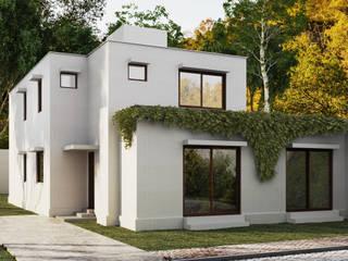 AOG Casa unifamiliare Metallo Bianco