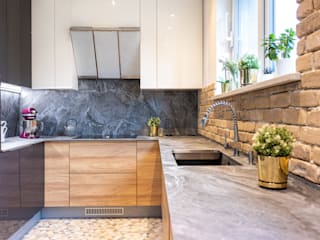 Studio4Design Modern Kitchen Bricks Brown