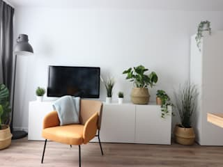 Studio4Design Modern Living Room Concrete White