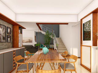 Modern dining room by Sandarbh Design Studio Modern