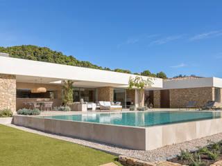 dom arquitectura Mediterranean style balcony, veranda & terrace