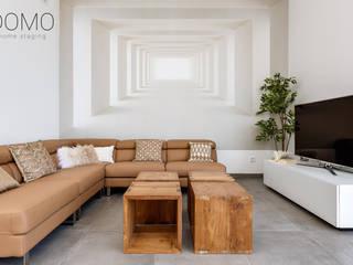 Villa de lujo Domo Home Staging Salones de estilo moderno Mármol Ámbar/Dorado