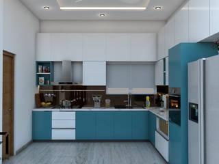 Classical Villa Interiors (Ibrahim Villa) 3F Architects Small kitchens