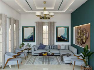 Classical Villa Interiors (Ibrahim Villa) 3F Architects Modern living room