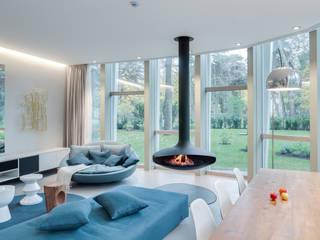 Galbiati Milano Design Hub 现代客厅設計點子、靈感 & 圖片 Blue