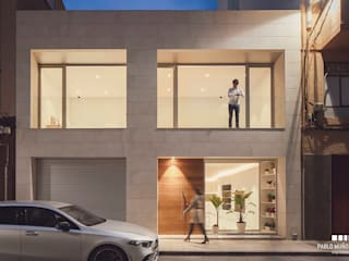 Vivienda para Ana y Pau de Pablo Muñoz Payá Arquitectos Minimalista