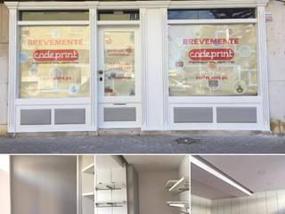 Home 'N Joy Remodelações Oficinas de estilo moderno Gris