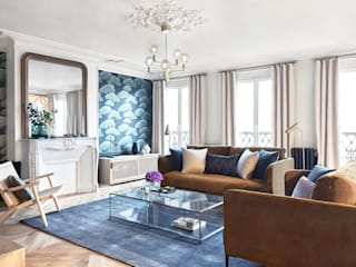 Contemporary Chic Apartment I Appartement Chic Contemporain by Lichelle Silvestry Interiors Lichelle Silvestry Interiors Salon moderne