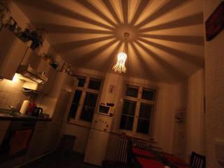 de.taille unsere Designer Hängeleuchte im Blütenform Lichtmanufaktur leuchtstoff*, Lichtdesigner Stefan Restemeier, MA Arch KücheBeleuchtung Eisen/Stahl Weiß