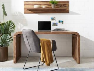 DELIFE ห้องอ่านหนังสือและห้องทำงานโต๊ะทำงาน ไม้ Brown
