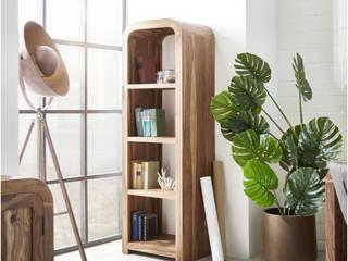 DELIFE ห้องอ่านหนังสือและห้องทำงานตู้เก็บของและชั้นวาง ไม้ Brown