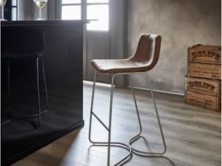 DELIFE Dining roomChairs & benches Textile Brown