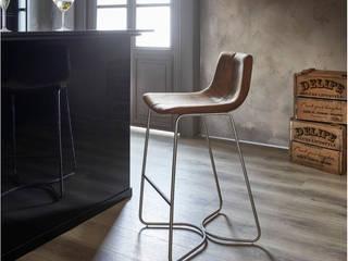DELIFE ห้องทานข้าวเก้าอี้และม้านั่ง สิ่งทอ Brown