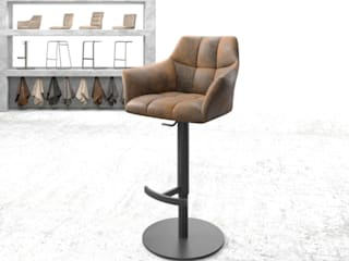 DELIFE Dining roomTables Textile Brown