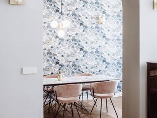 Palazzo d' epoca? Parquet su misura Piccardi Living Sala da pranzo moderna Legno Marrone
