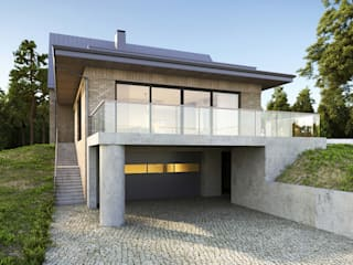 Дом на холме. Архитектурное бюро Киев Maisons modernes