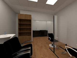 Estudio Dual Ruang Komersial Gaya Industrial