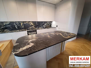 Merkam - Łódź ul. Św. Jerzego 9 KitchenBench tops Stone Red