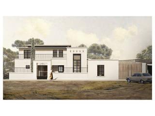 Cervantes Bueno arquitectura Rumah Gaya Rustic Batu Wood effect