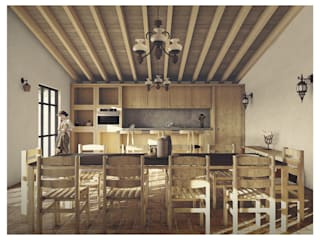 Rustic style dining room by Cervantes Bueno arquitectura Rustic