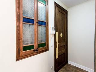 Reforma integral piso Aribau Vb Reformas Integrales Pasillos, vestíbulos y escaleras de estilo rústico